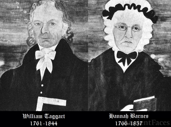 William Taggart (1761-1844) and Hannah Barnes Taggart (1766-1857)
