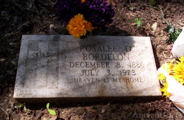 Rosalee Dauzat Bordelon (1886 - 1973) Tombstone
