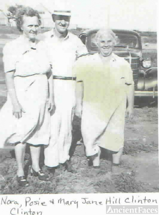Nora, Posie & Mary (Hill) Clinton