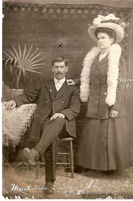 Eugene Theriault & Esther Theriault, 1910