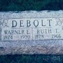 Warner and Ruth Debolt Tombstone