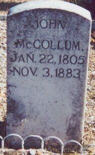 Burial Place of John McCollum