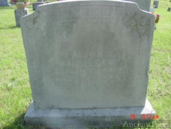 tombstone for fount e. morrison