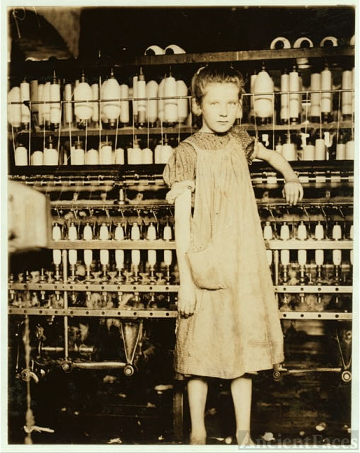 Addie Card, 12 years. Spinner in North Pormal [i.e.,...