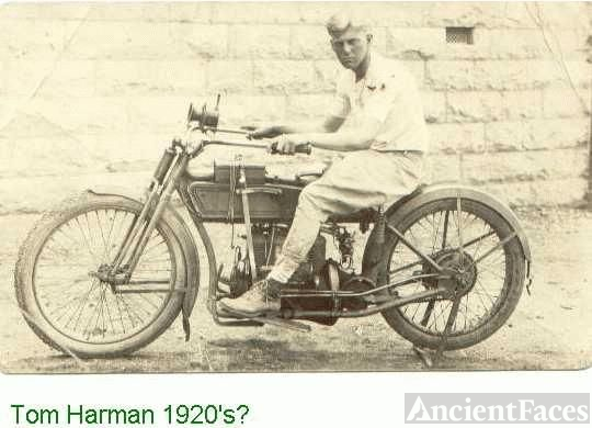 John Thomas Harman on motorcyle