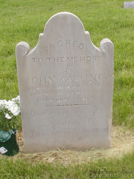 Gravestone of John Carling