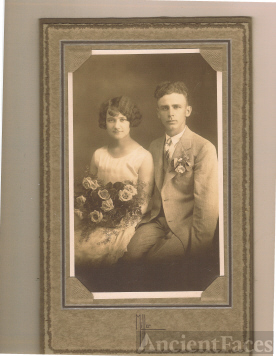 The Wedding Picture of Annette Coon and Clarence Pluckhan, 1927