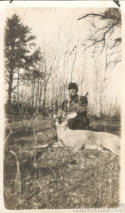 Otsby man with a deer
