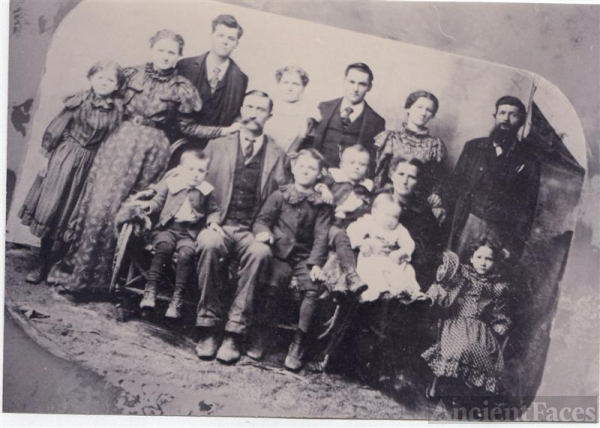 James Henry Mitchell and family