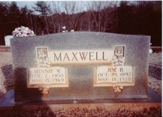 Gravesite of Minnie W. & Joe B. Maxwell