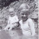 Melba Ethridge & Edgar Branson, at swimming hole
