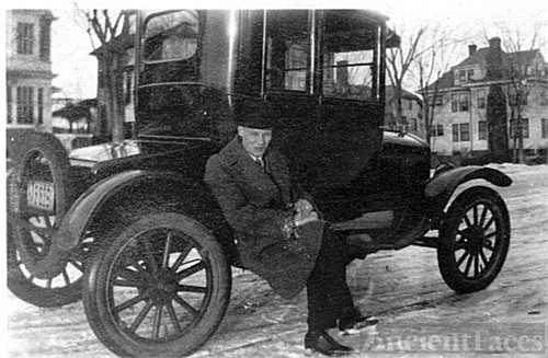 Arthur Andersen & his new car