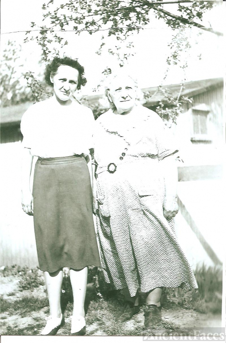 Katie M. Klopp with her mother, Sarah Ann Brossman Klopp