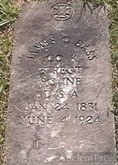 Gravesite of James C. Bass