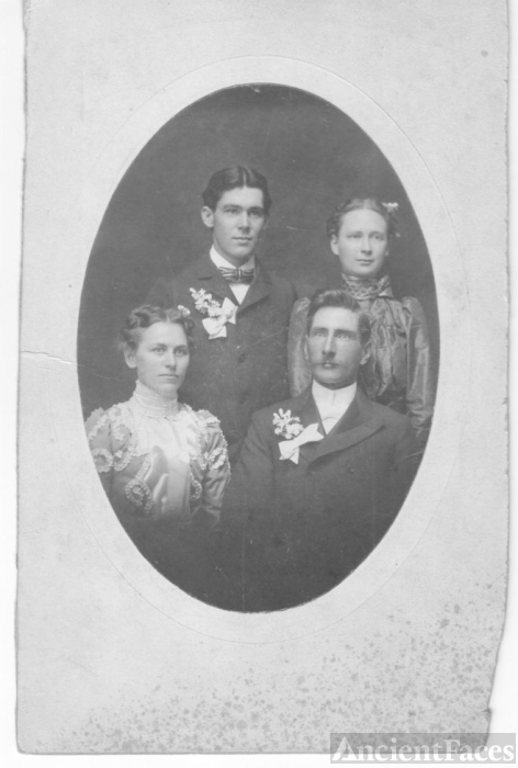 Unknown couple and 2 children