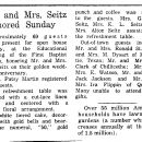 "Seitz, Robert ""Lee"" & Elizabeth Ewing Hopkins Seitz 50th Anniversary"