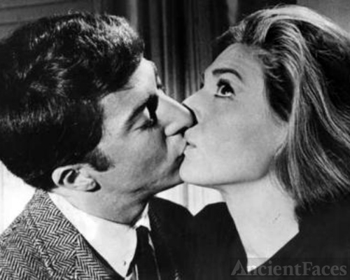 Anne Bancroft as Mrs. Robinson - Dustin Hoffman