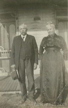 Adam & Gertrude Remaklus at home in Jay County, IN