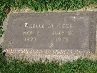 A photo of Adelle M. Keck