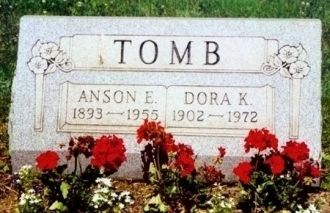 Headstone of Anson & Dora Tomb