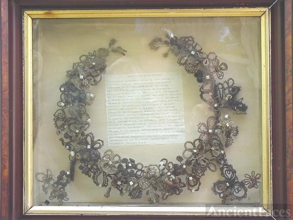 Louthan & Moore Family Hair Wreath, Illinois 1900