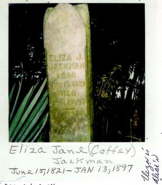 Eliza Jane (Coffey) Jackman - 1821-1897