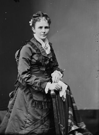 James Garfield's wife Lucretia