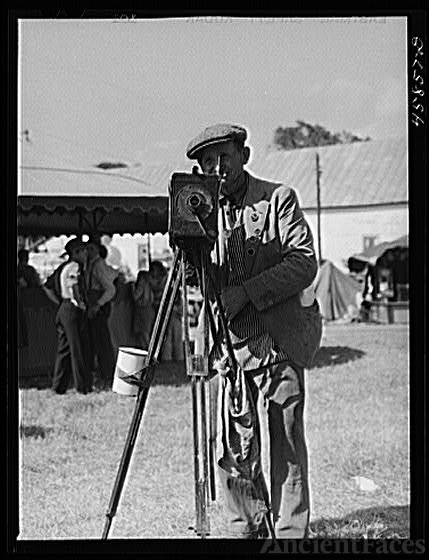 Tintype photographer at the World's Fair. Tunbridge, Vermont