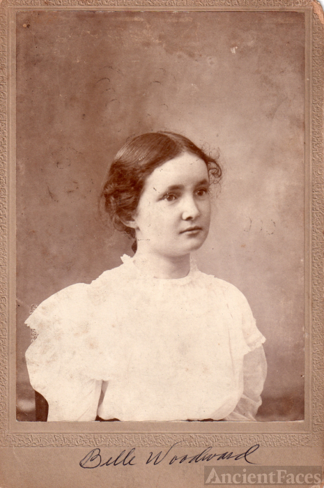 Belle Irene (Woodward) Dings, 1890