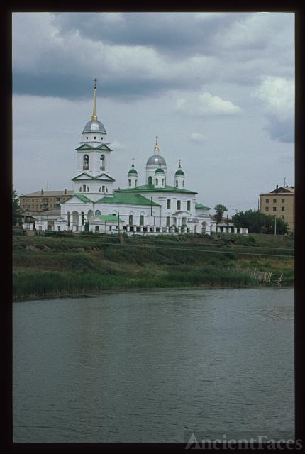 Church of the Trinity (1762), southwest view, with River...