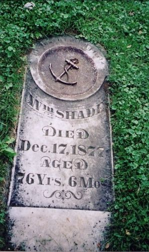 William Shade's gravestone