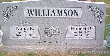 Gravesite Hubert Williamson & Nona Bullington
