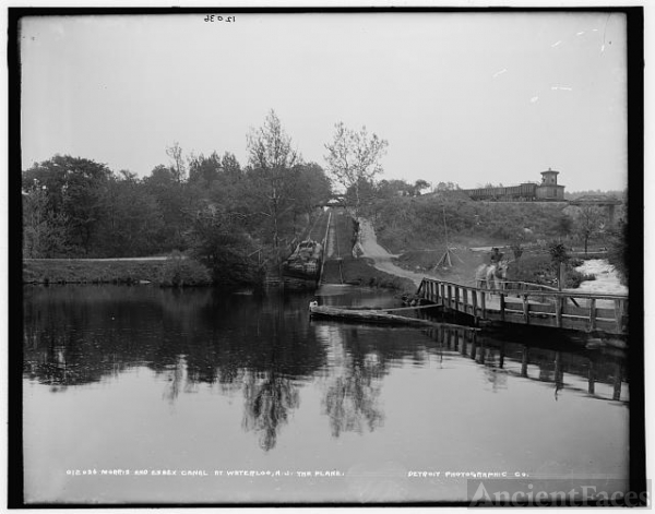 Morris and Essex Canal at Waterloo, N.J., the plane