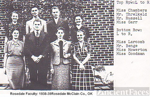 1938 Faculty, Rosedale, OK