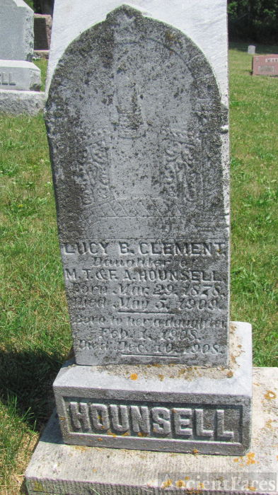 Lucy B. (Hounsell) Clement Grave, WI