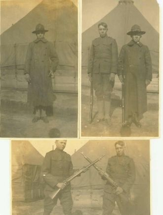Three Pictures of Ed Tyree in Basic Training