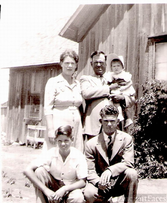 1944 Picture of my Uncle Collins Denton and Family