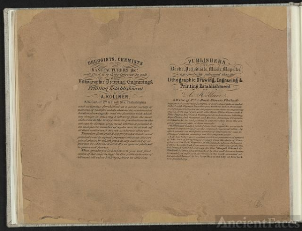 [Advertisements for the printing establishment of A....