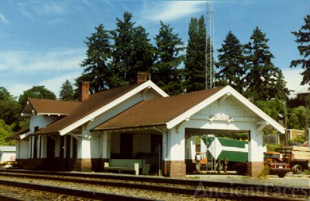 Steilacoom, Washington Railroad Depot 1985