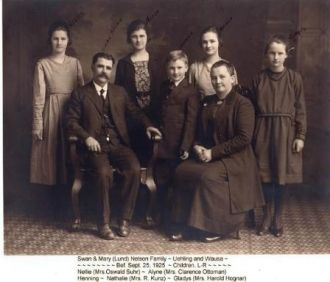 A photo of Swan and Mary Lund Nelson Family