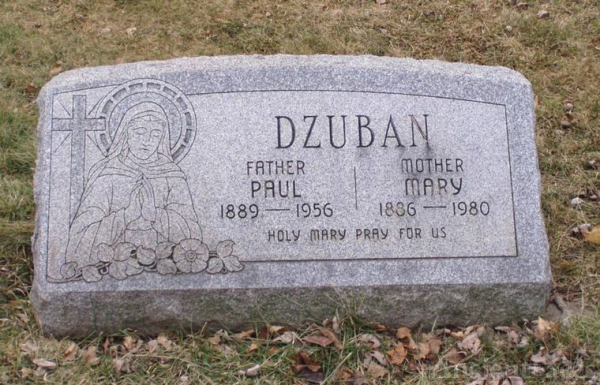 Dzuban, Paul & Mary Headstone