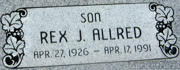 Headstone of Rex Allred