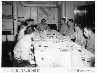 USS Bunker Hill CV-17 Ward Room 1944