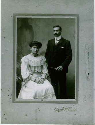 A photo of Ida and George Newell