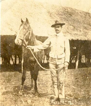 Sgt. Harry M. O'Keefe and his horse