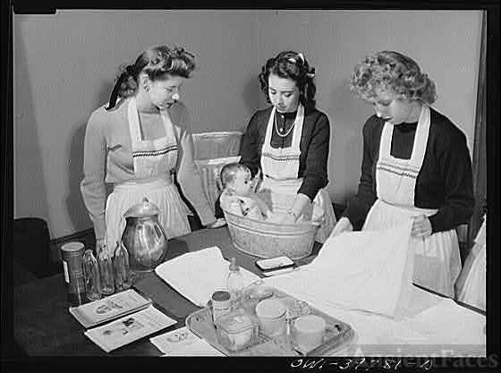Washington, D.C. Home economics students at Woodrow...