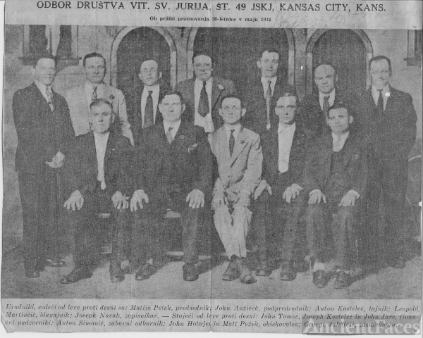 1934 - St. George Society #49 , Kansas