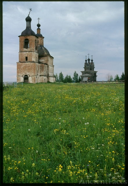 Church of Resurrection (1752), and log Church of St....