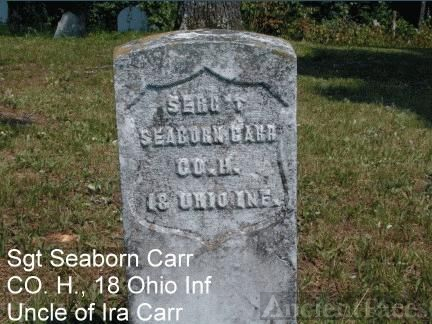 Headstone of Seaborn Carr