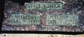 Headstone of Bolton C Gallagher
